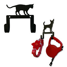 Wrought Iron 1 Cat and 20+ Dog Double Wall Hooks For Pet Accessories