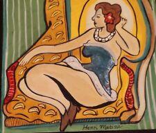 Henri Matisse woman ink on paper Painting, Signed art fauvism artwork original
