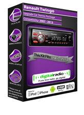 RENAULT TWINGO Radio DAB , Pioneer de coche USB ENTRADA AUXILIAR Player + Antena