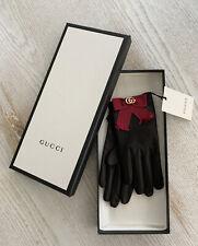 Gucci Handschuhe 2018 Schleife aus Samt GG Gr 7,5