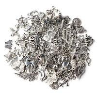 Wholesale 100pcs Bulk Lots Tibetan Silver Mix Charm Pendants Jewelry DIY AU +++