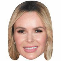 Amanda Holden Face Party Mask Card A4 Fancy Dress TV Judge Ladies Men Kids
