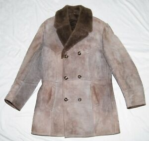 Polarpels Large Shearling Leather Marlboro Coat Brown Men's Norway 52