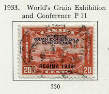 1933 Canada.  World's Grain Exhibition and Conference, Regina.  20c red USED.