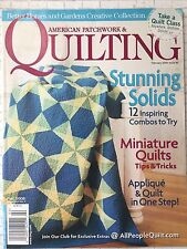 American Patchwork & Quilting Magazine Feb 2008 Stunning Solids