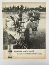 Imperial Whiskey Magazine Ad 10.75 x 13.75 Gillette Sun Up After Shave