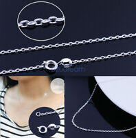 Genuine Sterling Silver 925 Italian Anchor Cable Chain Necklace 1.5mm Cable Gift