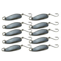 10pcs Metal Fishing Lures Bass CrankBait Spoon Crank Bait Tackle Hook Fish Bite