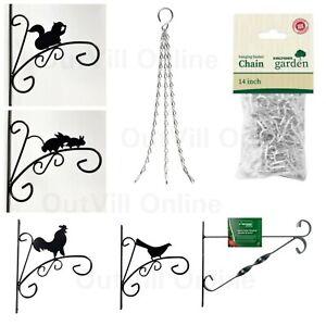 Wildlife Hanging Basket Metal Garden Wall Brackets Cute Animal Designs Chains