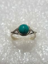 Natural Turquoise stone Ring Solid Sterling Silver marked 925 Ring Size N~N1/2