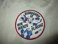 "Kutte,Weste Eishockey Aufnäher ""EISHOCKEY IS WIE WENZE FLIECHS"" TOP"
