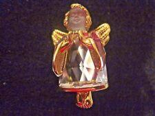 Swan Signed Swarovski Crystal Angel  Hands Together Brooch Rare & HTF 818