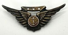 Vintage Us Marine Corps Combat Aircrew Sterling Wings - Pin Back