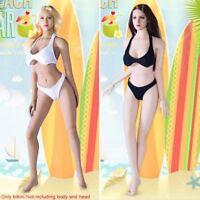 1/6 Scale Female Black Swimsuit Underwear Bikini For 12'' Phicen Figure Body Toy