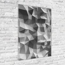 Wandbild Druck auf Plexiglas® Acryl Hochformat 70x100 Abstrakte Dreiecke