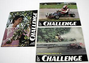 3 Issues Goodyear Motor Sports Club CHALLENGE Magazines Shirley Muldowney ++