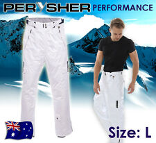 L Mens Ski / Snowboard Pants PERYSHER PERFORMANCE [Stylish White]