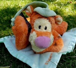 Disney Baby Winnie The Pooh Tigger Lovey Satin Security Blanket Gund Sleepytime