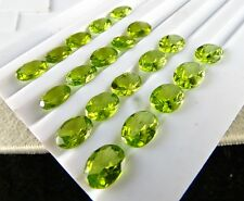 NATURAL PERIDOT OVAL CUT 9X7 MM 20 PCS 31 CTS GEMSTONES FOR PENDANT RING EARRING