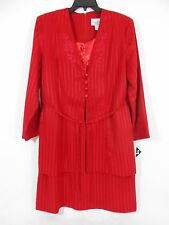 Reina  Blazer/Dress Red One Piece Women's 4 Button Front Jacket Misses-Size 14
