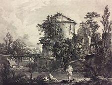 François Boucher seconde veue du provins de Charenton  par Le Bas Retirage XIX
