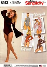 Simplicity Sewing Pattern 8513 Womens Knit Bodysuits Sizes XS-XL