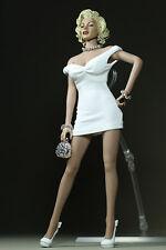 "1/6 Marilyn Monroe Classic White Dress Mini Skirt F 12"" Large Bust Action Figure"