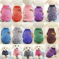 Pet Clothes Knitted Puppy Dog Jumper Sweater For Small Dogs Coat Cat Outfit