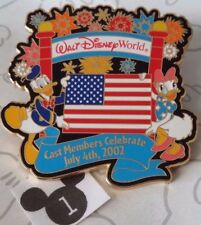 Donald and Daisy Duck Cast Members Celebrate July 4th 2002 Walt Disney World Pin