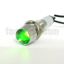 5PCS Green Neon 8mm AC220V Panel Indicator Power Signal Light Metal Shell XD8-1