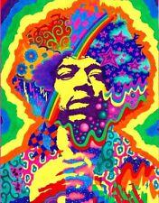 Psychedelic Jimi Hendrix Purple Haze '60's Peace Rock Sticker or Magnet