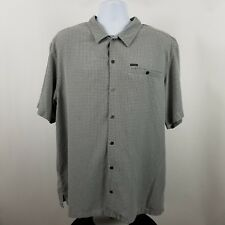 Columbia Mens Gray Check S/S Casual Button Shirt Sz XL
