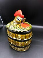 Vintage Rooster Cookie Jar Made in Japan Very Different
