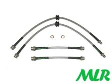 FIAT PUNTO GT TURBO ALL MK1 INC CABRIO BRAIDED BRAKE LINES HOSES PIPES KIT VD