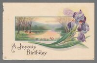 """[53663] OLD POSTCARD """"A JOYOUS BIRTHDAY"""" SERIES 702 D"""