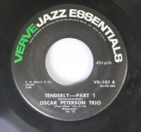 Jazz 45 Oscar Peterson Trio Tenderly-Part 1 / Tenderly-Part 2 on Verve Records