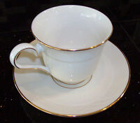 LENOX GOLDEN SAND DUNE CUP AND SAUCER SET FOOTED