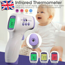 UK Digital Infrared Non-Contact Forehead Thermometer Medical Fever Baby Adult