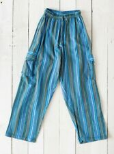 GRINGO fairtrade NEPALESE striped cotton CARGO TROUSERS baggy COMBAT hippy PANTS