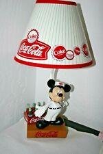 New Collector 2003 Disney Mickey Mouse Coca Cola Desk Dresser Lamp/Light & Box