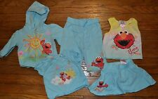 5 Pc Lot Elmo Outfits Size 12 Months Pants Skirt Hoodie Tank & Short Sleeve Top