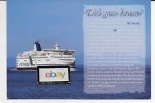 """BC FERRIES """"SPIRIT OF BRITISH COLUMBIA"""" FERRY,CANADA DID YOU KNOW? POSTCARD"""