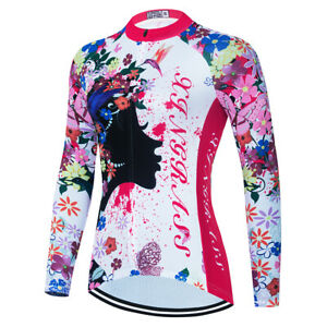 Women's Cycling Jersey Clothing Bicycle Sportswear Long Sleeve Bike Shirt X15