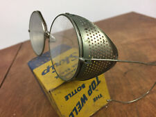 Vintage Antique Steampunk Metal Folding Willson Safety Glasses Goggles Motorcycl