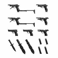 TOMYTEC 1/12 Little Armory LA049 M9 & M93R Type Weapon Set Kit w/ Tracking NEW