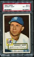 1952 Topps Baseball #214 JOHNNY HOP New York Yankees PSA 6 EX-MT