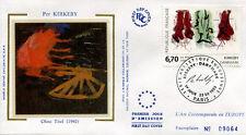 FRANCE FDC - 2969 1 PER KIRKEBY - 23 Septembre 1995 - LUXE sur soie