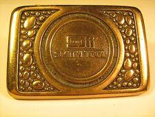 SOLID BRASS Belt Buckle SMITH TOOL 1981 BTS [Y69B3c]