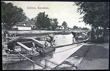 DUTCH INDIES ~ INDONESIA ~ EAST JAVA ~ 1900's SOERABAJA ~ KALIMAS~ LOADING BOAT