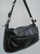 -AUTHENTIQUE sac à main XL  type besace  NICOLI cuir TBEG vintage bag A4